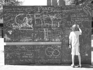jongen voor free speech wall in Charlottesville (756x567)